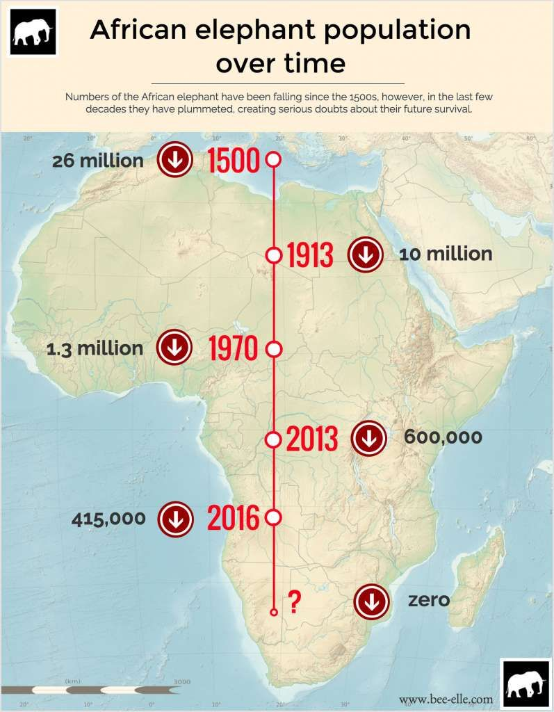 Decreasing elephant population